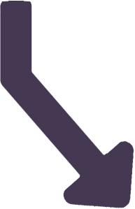 Flèche violette pour infographie