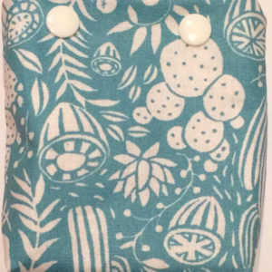 Pochette à savon cactus bleus