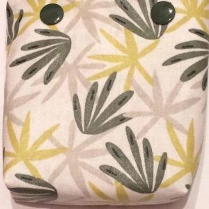 Pochette à savon palmiers